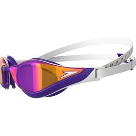 speedo Fastskin Pure Focus Mirror Svømmebriller, white/violet/gold shadow